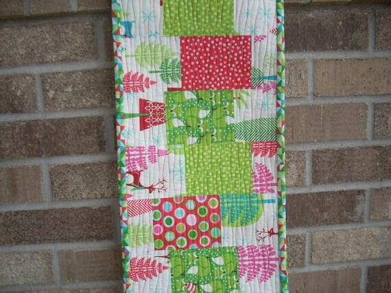 festive forest pattern sheet