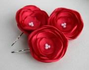 burgundy bridal flower hairpieces