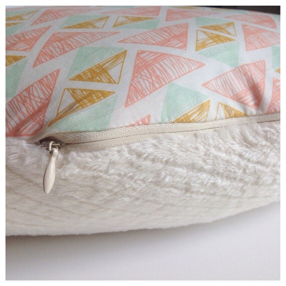 Ready To Ship  Nursing Pillow Cover Mint Gold by TheHenPen