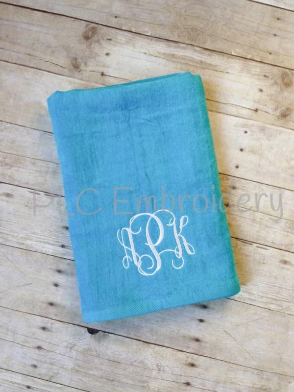 Xlarge Personalized Beach Towel Plush