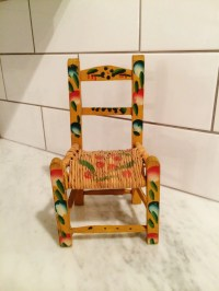 Vintage Mexican Chair Hand Painted Doll Chair by Comforte