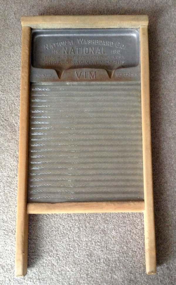 Vintage National Glass Washboard