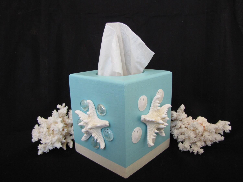 Seashell Tissue Box Cover Beach Decor Shell Tissue Box