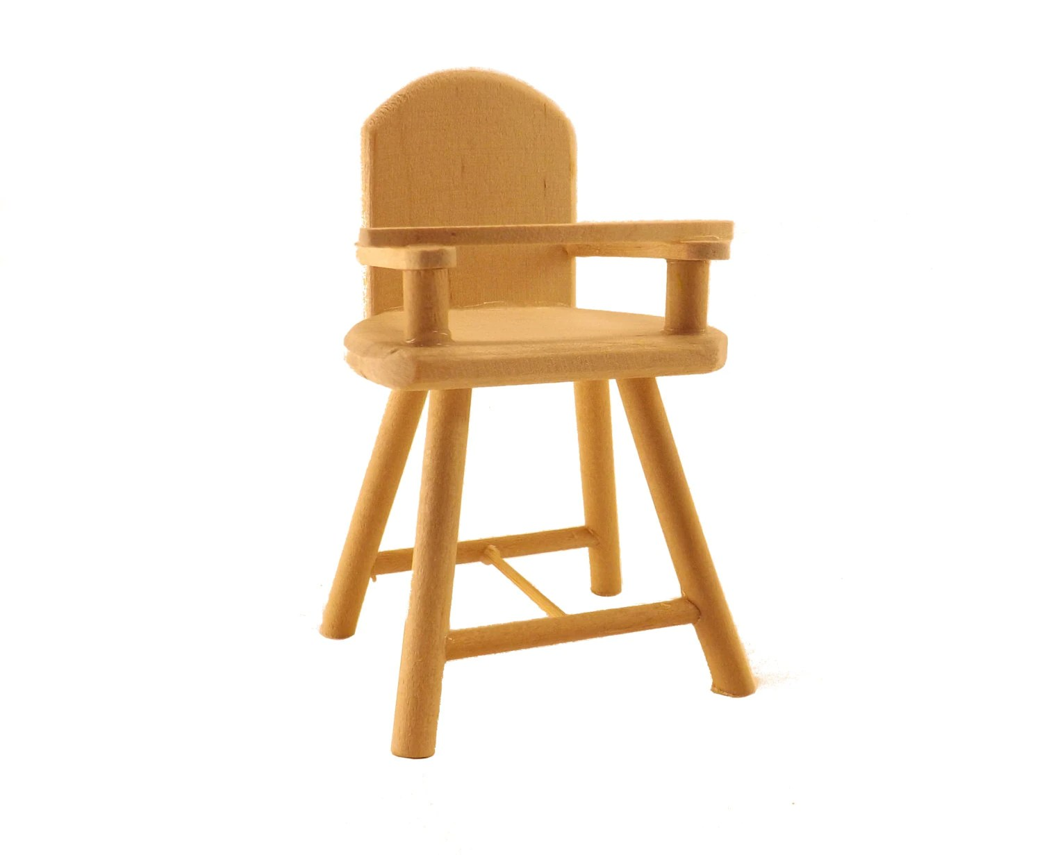 Unfinished Chair Unfinished Wood Pine High Chair Craft And Dollhouse Miniature