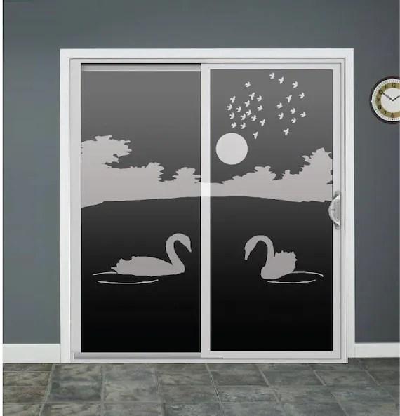 Swan Lake Glass Door Decals Sliding Door Decal Door Stickers