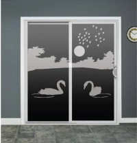 Swan Lake Glass Door Decals Sliding Door Decal Door Stickers