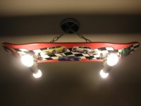 Custom Muscle Cars Hanging Skateboard Light Fixture