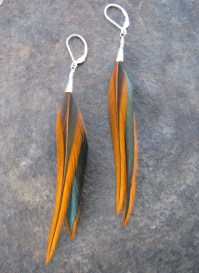 Real Feather Earrings Sterling Silver by EvolvedElements ...