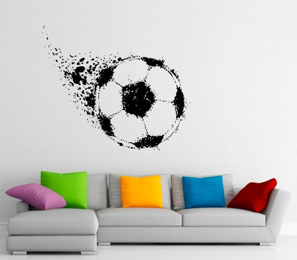 Soccer Ball Wall Decal Football Vinyl Stickers Sport Game