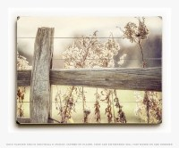 Wood Sign: Country Home Decor Fence Wood Print Golden