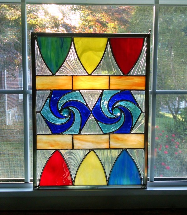 Rainbow Stained Glass Window