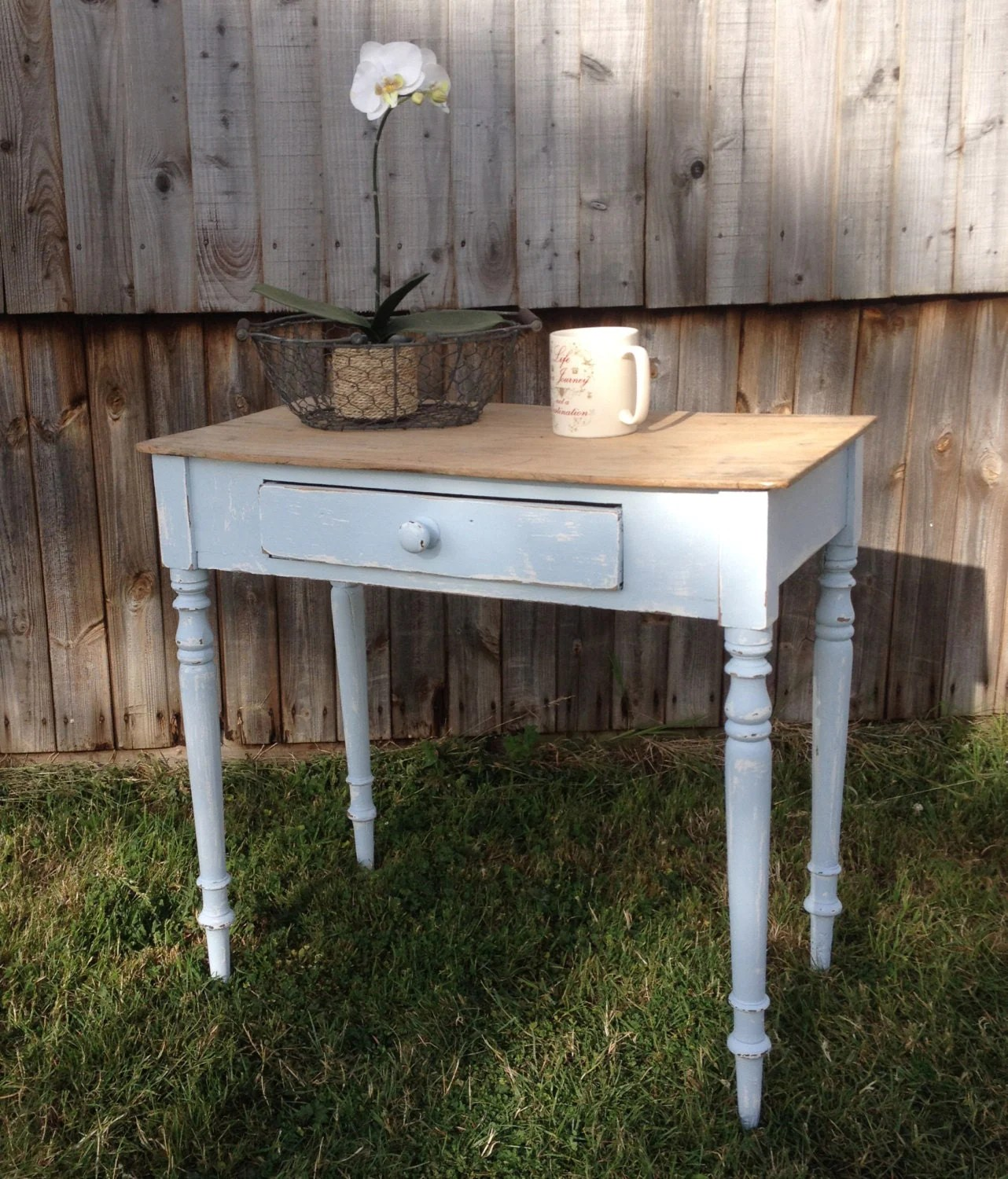 Sold vintage victorian console side table writing desk - Table haute console ...