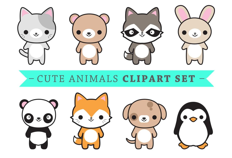 Haut de gamme Vector Clipart animaux mignons Kawaii