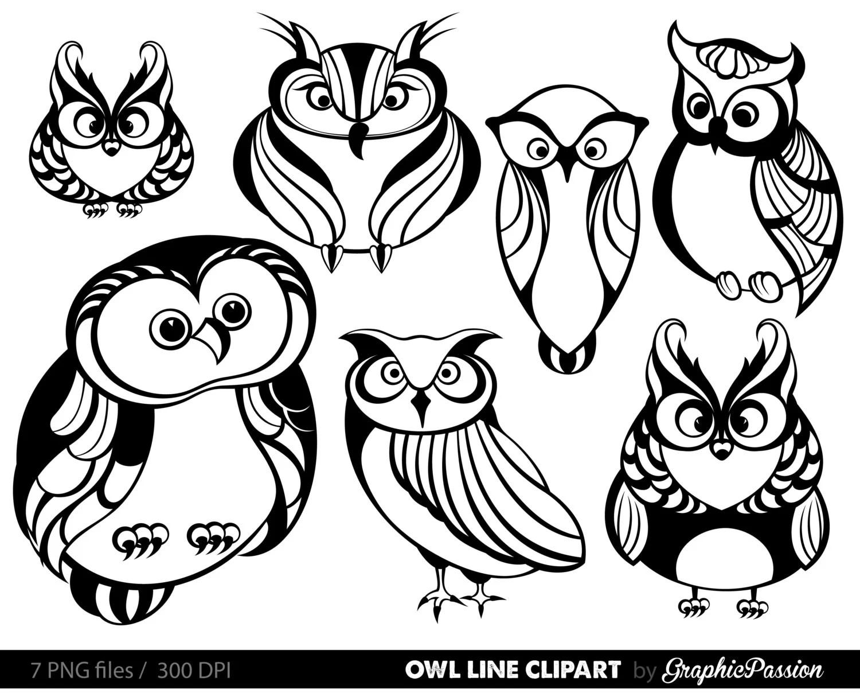 Owl Clipart Owl Digital Clip Art Baby Owl Clipart Owl Party