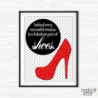 Printable Shoe Wall Art Canvas Quotes Shoe Quotes for Office