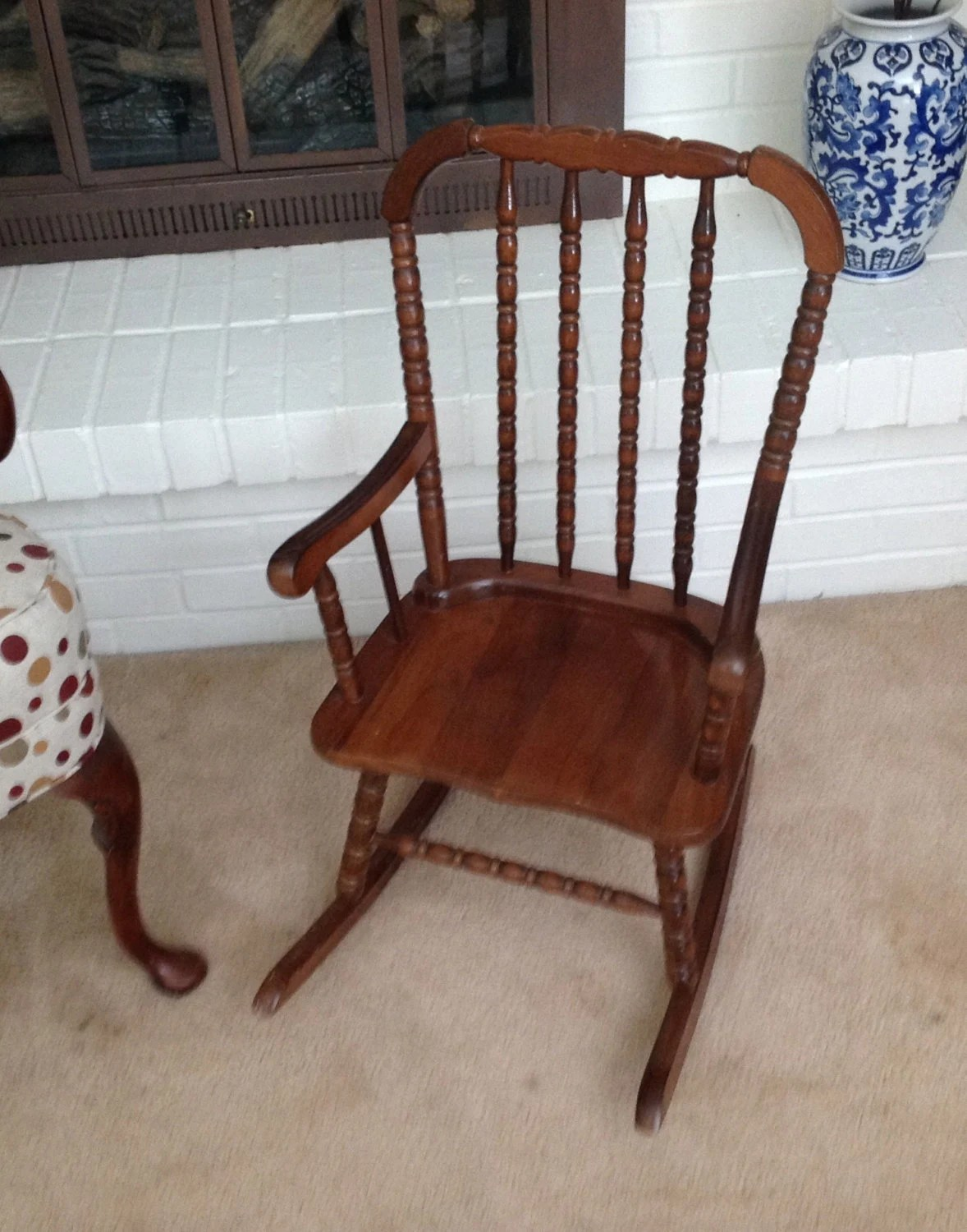 jenny lind rocking chair universal dining room covers wood child 39s rocker 1986 collins