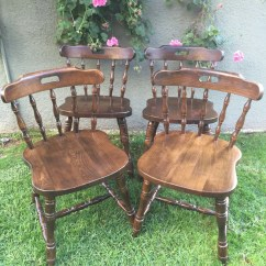 Solid Oak Pressed Back Chairs Ergonomic Chair Design Guidelines Set Of 4 Antique Vintage Spindle Windsor Beechwood