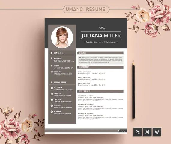 photo modele de cv design gratuit lettre de motivation