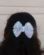 rhinestone hair bow