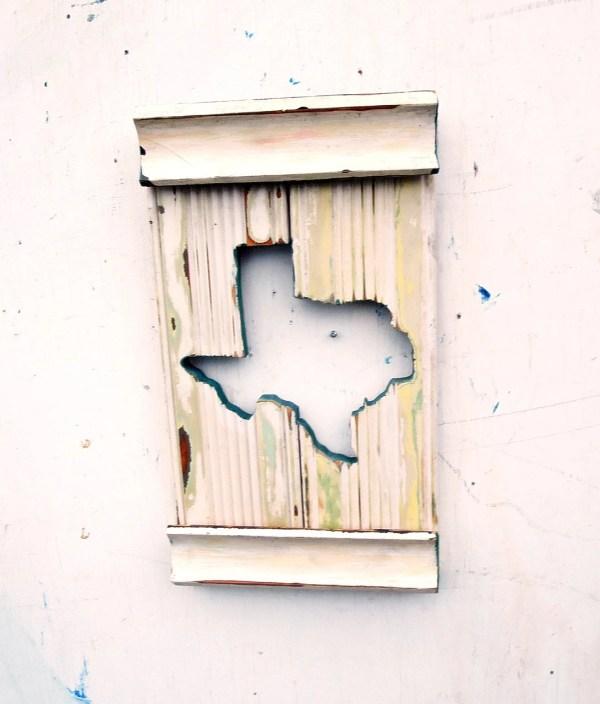 Texas Wall Art Rustic Wood Decor State