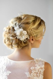 bridal flower hair comb wedding