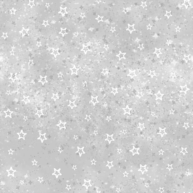 Gray Stars Tone on Tone Cotton Quilt Fabric by the by