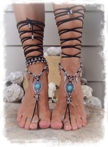 Gothic Barefoot Sandals