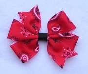 basic hair bows red bandana