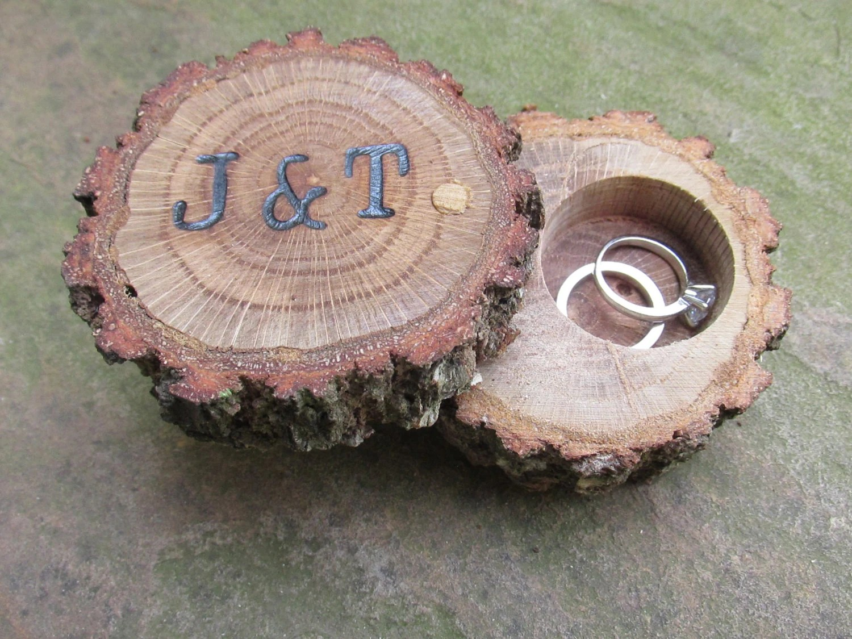 Oak Ring Box Ring Bearer Box Engagement Ring Box Wedding