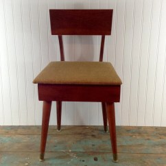 Antique Sewing Chair Coca Cola Table And Chairs Vintage With Under Seat Storage Price Reflects