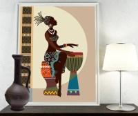 African Art African American wall Art African Woman by ...