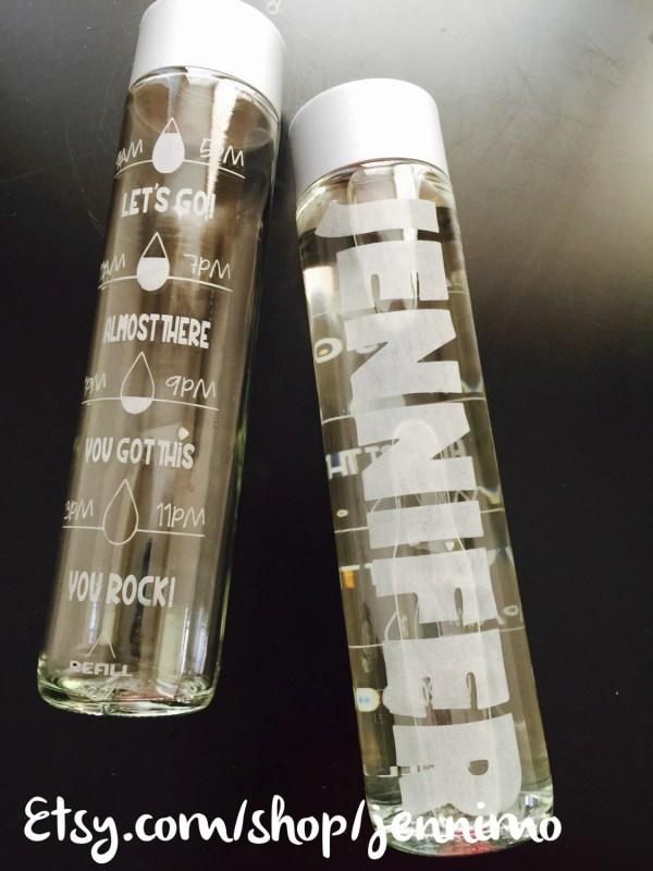 Glass water bottle - deals on 1001 Blocks