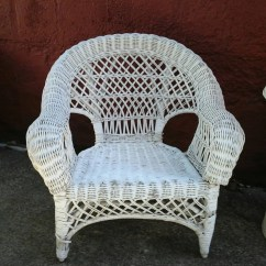 Childs Rattan Chair Industry West Chairs Vintage Child 39s Wicker Small White