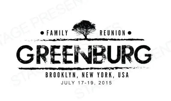 Custom Family Reunion Logo Personal Use Family Reunion