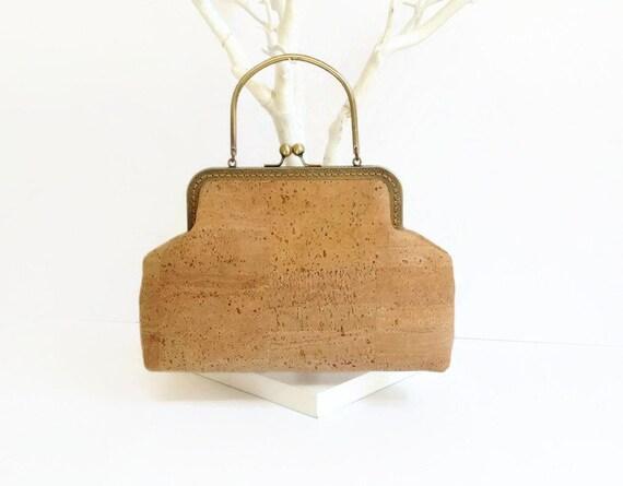Handbag Made From Natural Cork Eco Friendly Bag Genuine