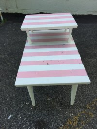 Mid Century modern two tier painted side table  Haute Juice