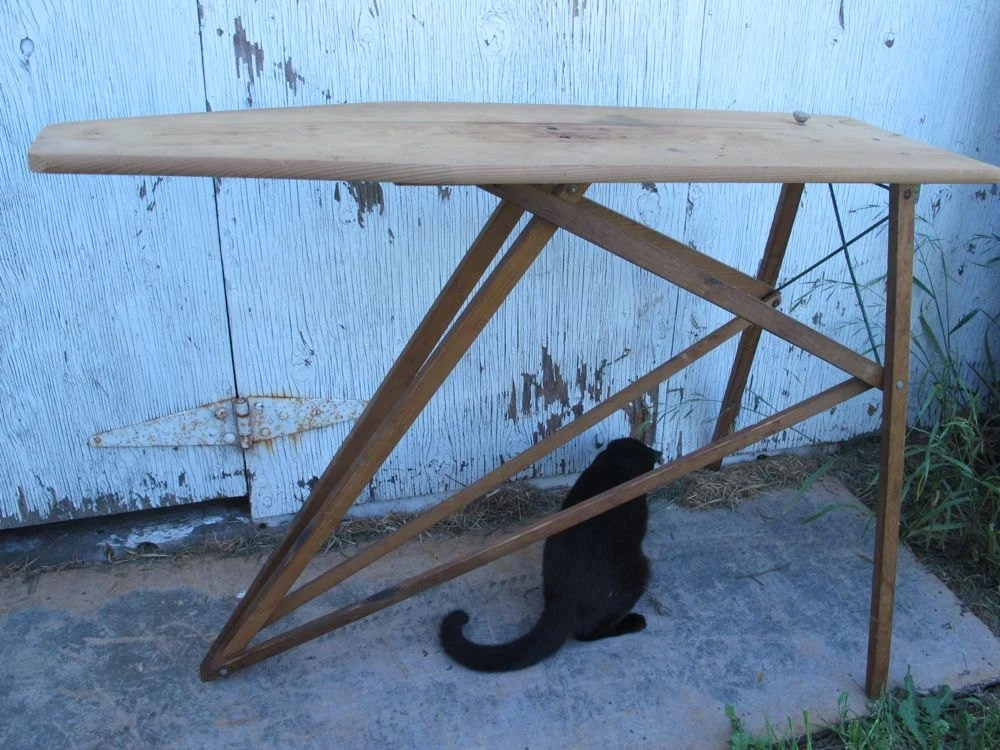Vintage Wooden Ironing Board Wood Ironing Board Primitive
