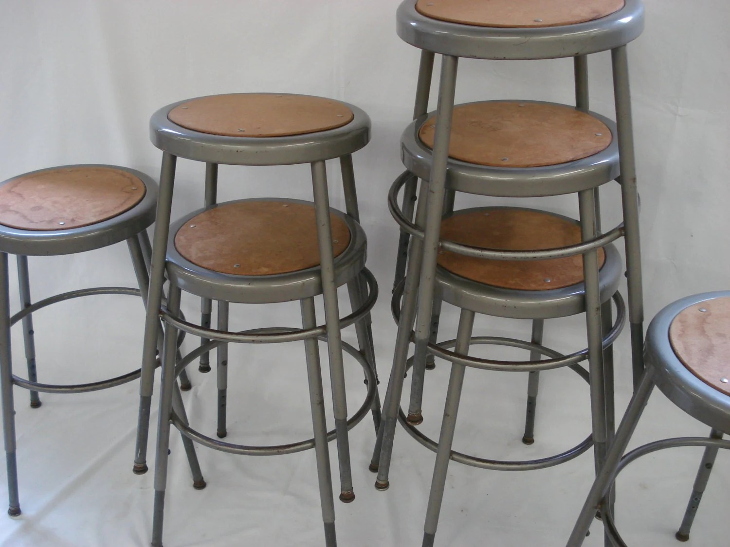 Vintage Krueger Kitchen Stool Industrial School Shop Metal