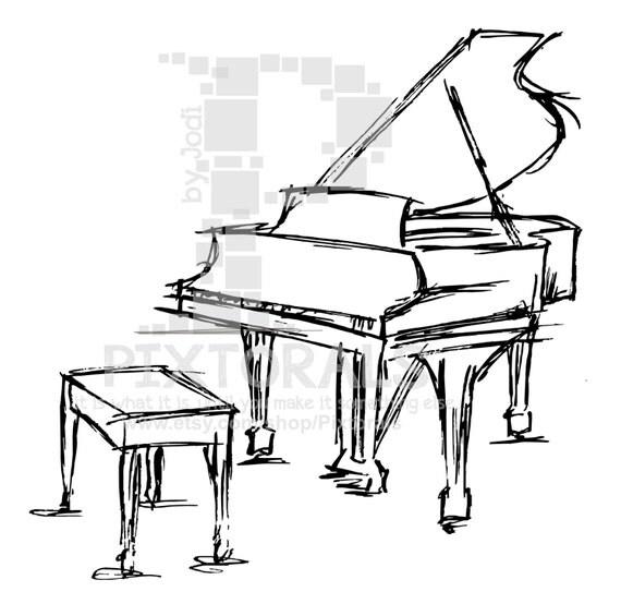 Items similar to Baby Grand Piano (Vector), jpeg, png, fun
