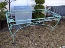 Vintage Wrought Iron Salterini Maple Leaf Dining Table