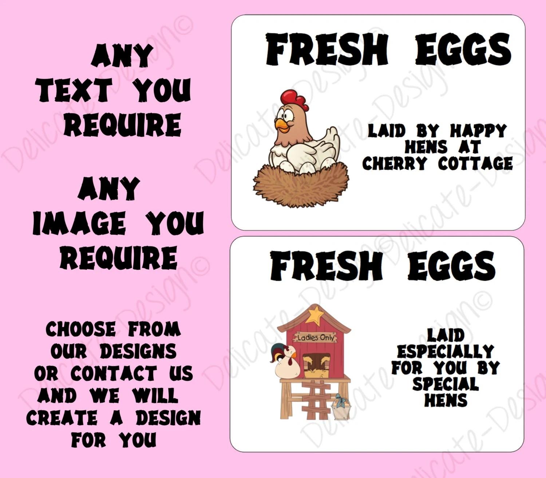 Custom Egg Box Labels Chicken Chook Chicken Coop Sign Vintage