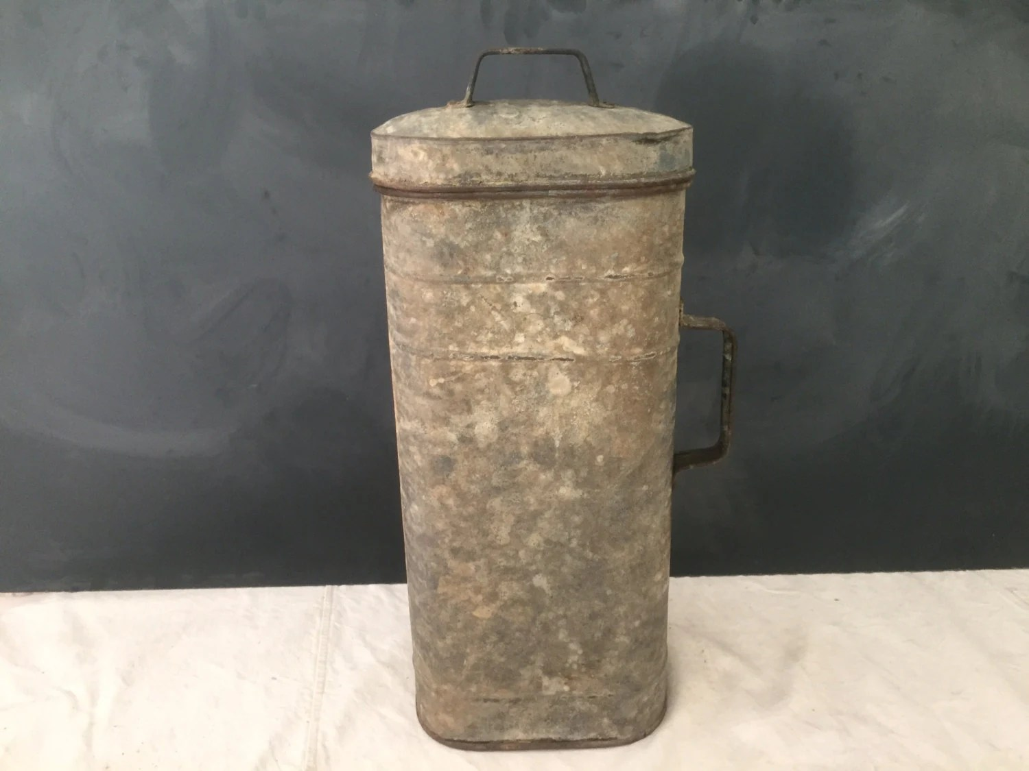 Galvanized Metal Industrial Container With Lid Metal