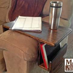 Sofa Arm Rest Tray Sectional Amazon Couch Handmade Custom Fit Wood Caddy