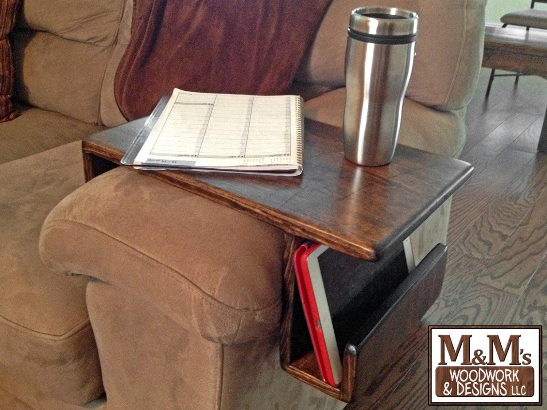 sofa arm tray wood ikea kivik cushions couch handmade custom fit rest caddy