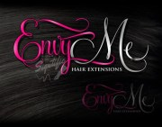 hair extensions logo design beauty