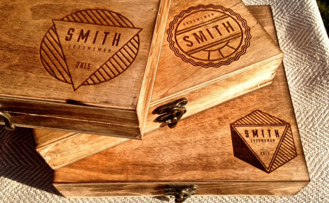 Groomsmen Gift Box Personalized Cigar Box By