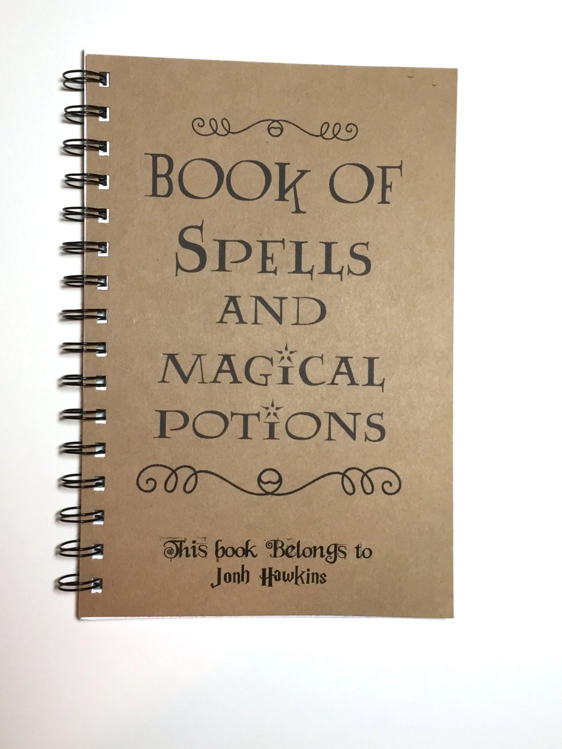 Book Of Spells And Magical Potions Harry Potter Inspired
