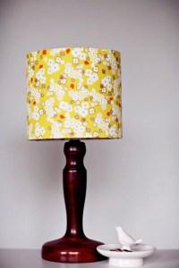 Mustard lamp shade floral lampshade yellow lampshade