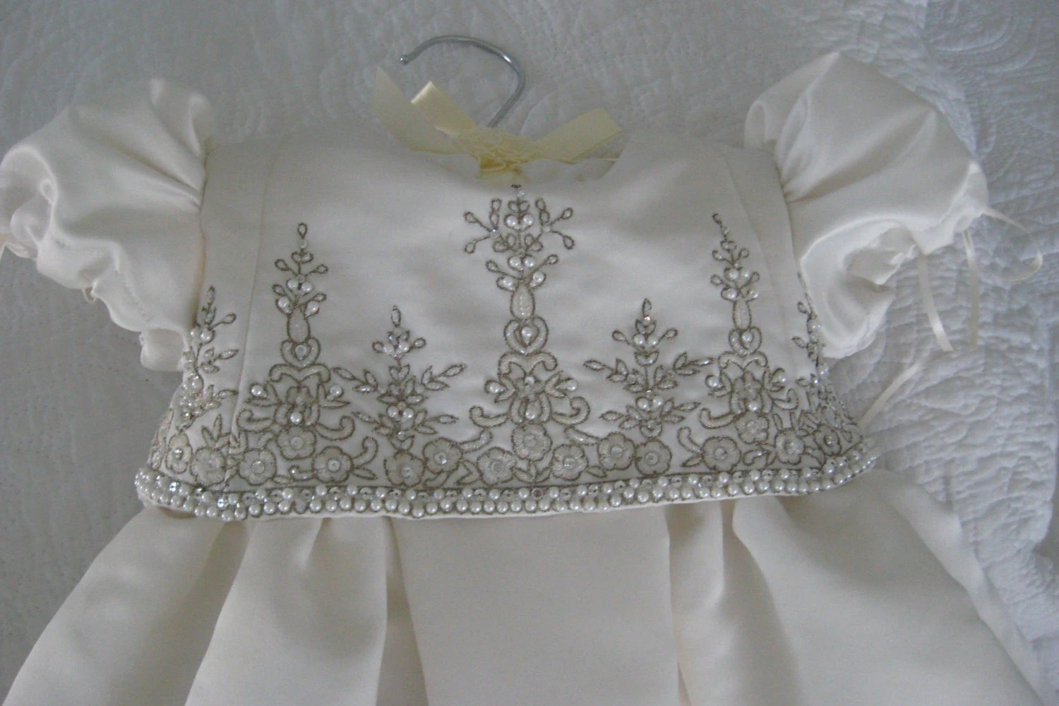 Christening Gown From Wedding Gown Conversion