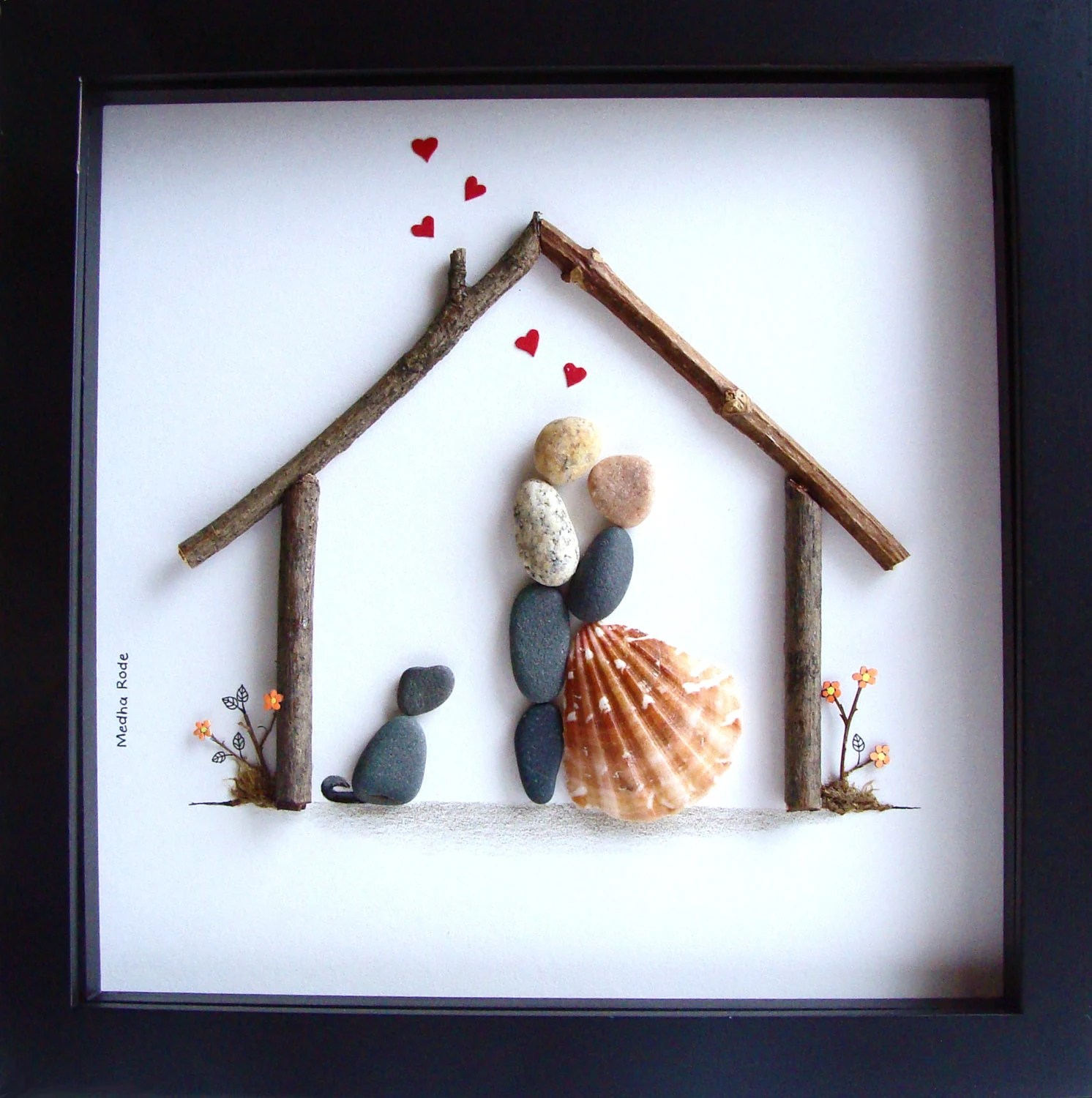Unique WEDDING GiftCustomized Wedding GiftPebble ArtUnique